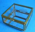 Click to view larger image of Brass and Glass Trinket Display Box (Image1)
