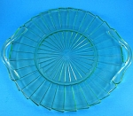 Click to view larger image of 1930s Jeanette Glass Sierra Pattern Green Platter (Image1)