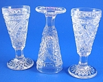 Click to view larger image of Three Pretty Little Cordial Glasses (Image1)
