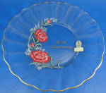 Click here to enlarge image and see more about item g01087m: Fenton Glass 40th Anniversary Plate