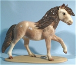 Click here to enlarge image and see more about item h01760: Hagen-Renaker Miniature Highland Pony Stallion