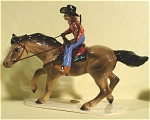 Click here to enlarge image and see more about item h01761: Hagen-Renaker Specialty Barrel Racer