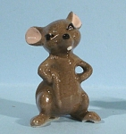 Click here to enlarge image and see more about item h01809: Hagen-Renaker Miniature Grumpy Big Brother Mouse