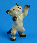 Click here to enlarge image and see more about item h02227: Hagen-Renaker Miniature Reaching Siamese Kitten