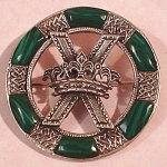 Click to view larger image of Beautiful Malachite & Sterling Pin (Image1)