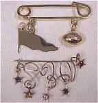 Football Pin & Dangle Star Pin