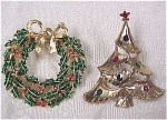 Christmas Wreath & Tree Pins