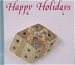 Click here to enlarge image and see more about item j00270: Christmas Present Pin