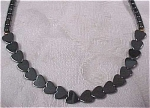 Click here to enlarge image and see more about item j00296: Genuine Hematite Bead Necklace