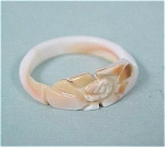 Click here to enlarge image and see more about item j00315: Small Carved Shell Ring