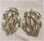 Click to view larger image of Signed BSK Clip Earrings (Image1)
