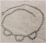 Click to view larger image of Unsigned 1940s Rhinestone Choker (Image1)
