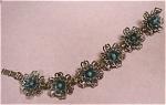 Click to view larger image of Signed Enameled Flower Bracelet (Image1)