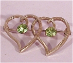 Click here to enlarge image and see more about item j00401: Van Dell Sterling Double Heart Pin