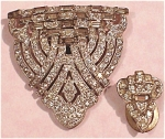 Click to view larger image of Rhinestone Dress Clip Pair (Image1)