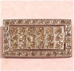 Click here to enlarge image and see more about item j00427: Old Rectangle Rhinestone Pin