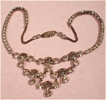 Click here to enlarge image and see more about item j00441: Rhinestone Necklace