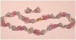 Click to view larger image of Pastel Pink and Blue Necklace and Earrings (Image1)