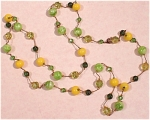 Click here to enlarge image and see more about item j00465: Old Glass Bead Necklace
