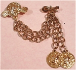 Click here to enlarge image and see more about item j00476: Coin Dangle Double Pin