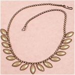 Click to view larger image of Rhinestone and Faux Pearl Cabachon Choker Necklace (Image1)