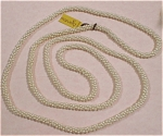 Click here to enlarge image and see more about item j00499: Marvella Faux Pearl Necklace with Hang Tag