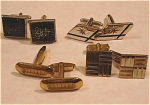 Click here to enlarge image and see more about item j00509: Four Cufflink Sets