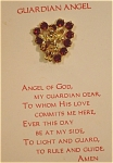 Click here to enlarge image and see more about item j00515: Guardian Angel Heart Pin