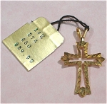 Click here to enlarge image and see more about item j00560: 14kt Gold Cross Pendant