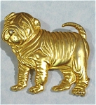 Click here to enlarge image and see more about item j00617: 1986 Jonette Jewelry Shar Pei Dog Pin