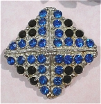 Blue Rhinestone Pin