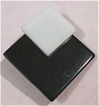 Black and White Plastic Pin Pair