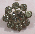 Small Rhinestone Circle Pin