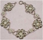 Click here to enlarge image and see more about item j00736: Sterling Silver Bracelet