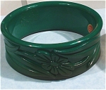 Click here to enlarge image and see more about item j00746: Western Germany Wide Plastic Bangle Bracelet