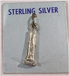 Click here to enlarge image and see more about item j00756: Sterling Silver Tower Charm