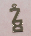 Click here to enlarge image and see more about item j00757: Wells Sterling Silver 78 Charm