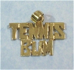 Click here to enlarge image and see more about item j00762: 14kt Tennis Bum Charm or Pendant