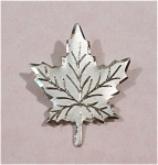 Click here to enlarge image and see more about item j00805: Sterling Silver Etched Maple Leaf Pin