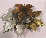 Three Tone Metal Leaf Pin