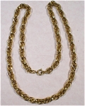 Click here to enlarge image and see more about item j00837: Napier Goldtone Necklace