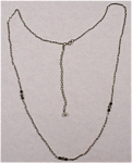Unmarked Silvertone Necklace with Back Dangle