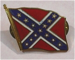 Click here to enlarge image and see more about item j00866: 1970s/1980s Confederate Flag Pin