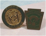 Click here to enlarge image and see more about item j00870: Two Little League Baseball Lapel Pins