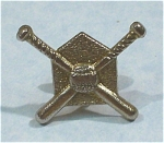 Click here to enlarge image and see more about item j00871: Baseball Bats and Home Plate Hat Pin