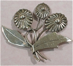 Click here to enlarge image and see more about item j00884: Mexican Three Flower Pin