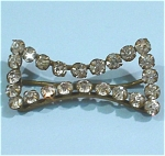 Click here to enlarge image and see more about item j00891: Old Czechoslovakia Rhinestone Bow Scarf Slide