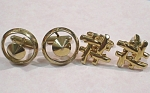 Click here to enlarge image and see more about item j00905: Two Sets of Cufflinks
