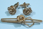 Click here to enlarge image and see more about item j00920: Swank Tie Bar and Cuff Links