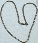 Click to view larger image of Unmarked Rat Tail Silvertone Necklace (Image1)